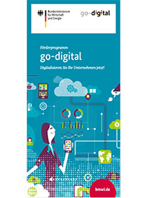 "Cover der Publikation ""Förderprogramm go-digital"""